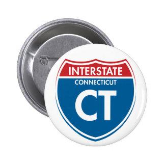 Interstate Connecticut CT Button