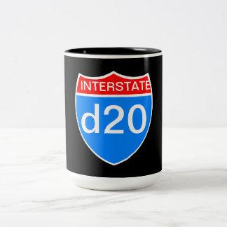 Interstate d20 Two-Tone coffee mug