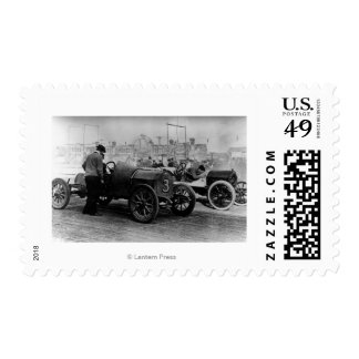 Interstate Fairgrounds Auto Speed Races Postage