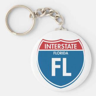 Interstate Florida FL Keychain