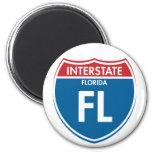Interstate Florida FL Refrigerator Magnets