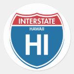 Interstate Hawaii HI Classic Round Sticker