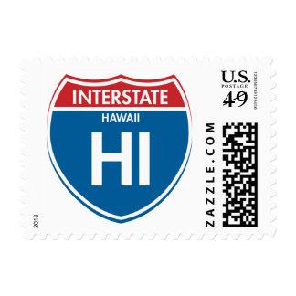 Interstate Hawaii HI Postage Stamp