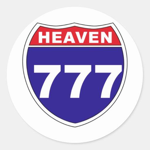 """Interstate"" Heaven 777 Stickers"