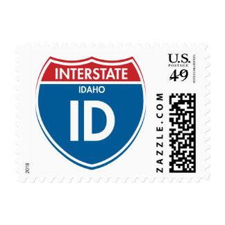 Interstate Idaho ID Postage Stamp