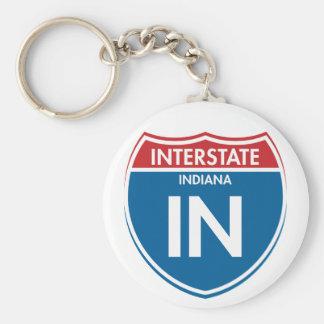 Interstate Indiana IN Keychain