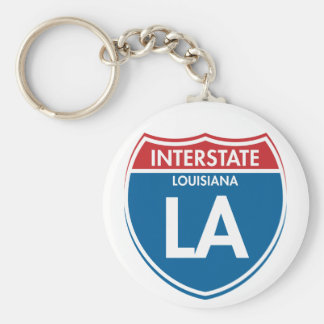 Interstate Louisiana LA Keychain