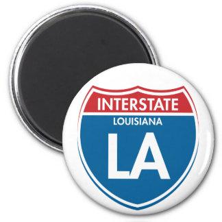 Interstate Louisiana LA Magnet