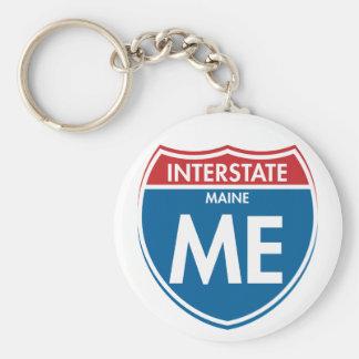 Interstate Maine ME Keychain