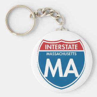 Interstate Massachusetts MA Keychain