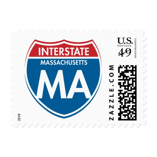 Interstate Massachusetts MA Postage Stamps