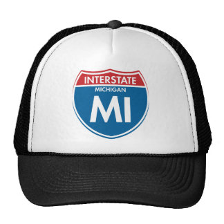 Interstate Michigan MI Trucker Hat