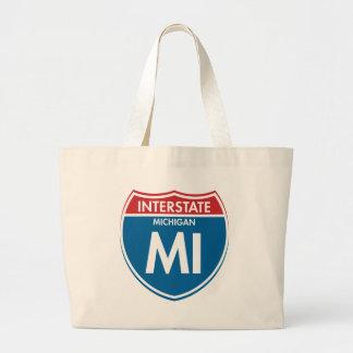 Interstate Michigan MI Jumbo Tote Bag