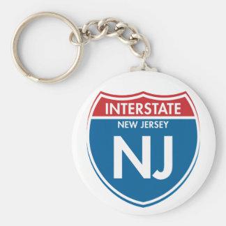 Interstate New Jersey NJ Keychain