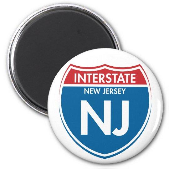 Interstate New Jersey NJ Magnet