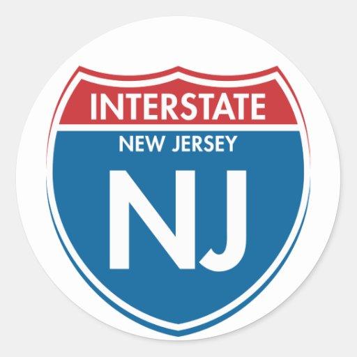 Interstate New Jersey NJ Stickers