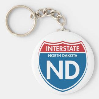 Interstate North Dakota ND Keychain