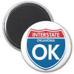 Interstate Oklahoma OK Fridge Magnet