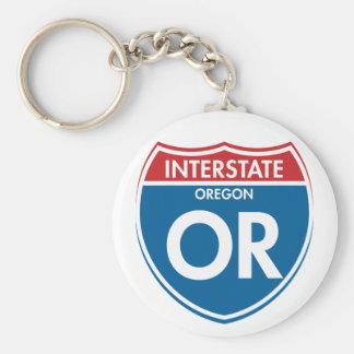 Interstate Oregon OR Keychain
