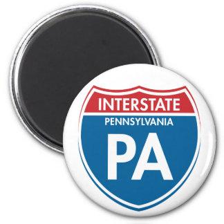 Interstate Pennsylvania PA Magnet