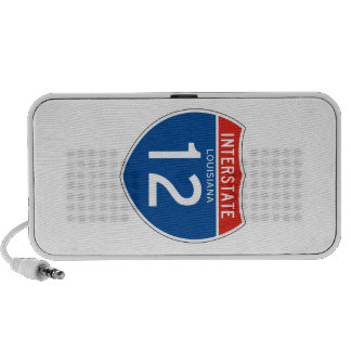 Interstate Sign 12 - Louisiana iPod Speakers