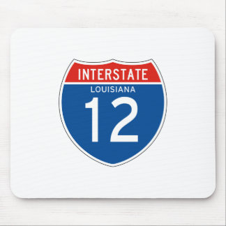 Interstate Sign 12 - Louisiana Mouse Pad