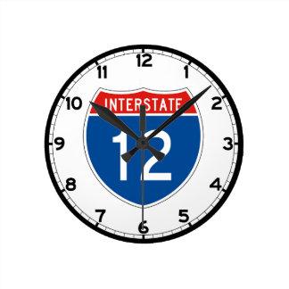 Interstate Sign 12 - Louisiana Round Clock