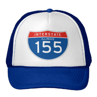 Interstate Sign 155 - Illinois Hat