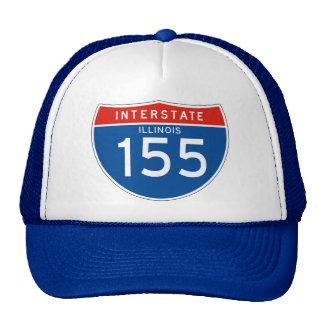 Interstate Sign 155 - Illinois Trucker Hat