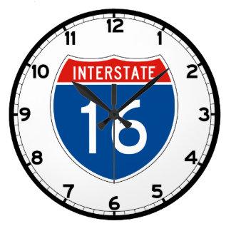Interstate Sign 16 Large Clock