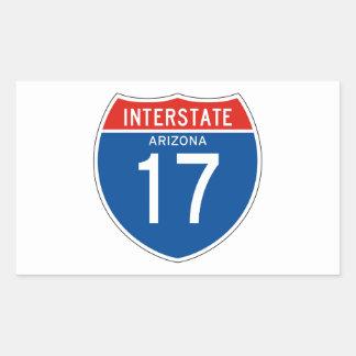 Interstate Sign 17 - Arizona Rectangular Sticker