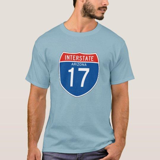 Interstate Sign 17 - Arizona T-Shirt