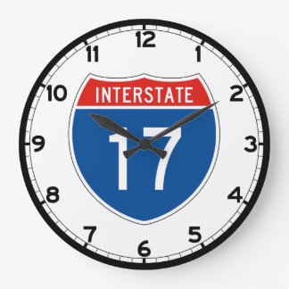 Interstate Sign 17 Large Clock