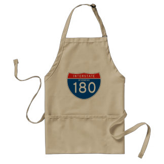 Interstate Sign 180 - Wyoming Adult Apron