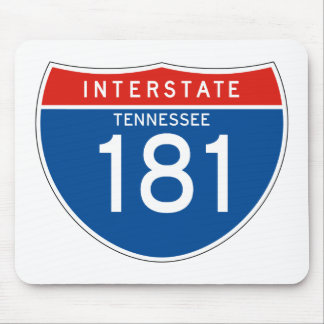 Interstate Sign 181 - Tennessee Mouse Pad