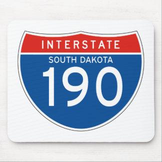 Interstate Sign 190 - South Dakota Mouse Pad