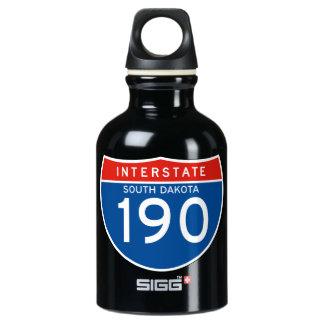 Interstate Sign 190 - South Dakota Water Bottle