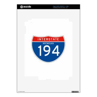 Interstate Sign 194 - Michigan Skins For iPad 2