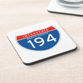 Interstate Sign 194 - North Dakota Beverage Coasters