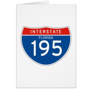 Interstate Sign 195 - Florida Greeting Card