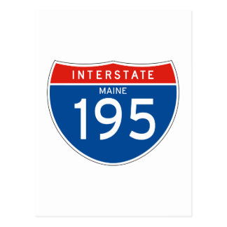 Interstate Sign 195 - Maine Postcard