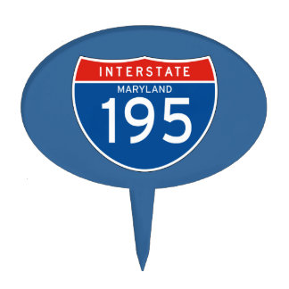 Interstate Sign 195 - Maryland Cake Topper