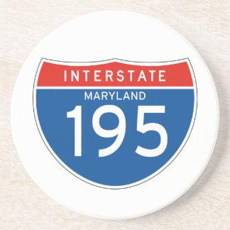 Interstate Sign 195 - Maryland Beverage Coasters