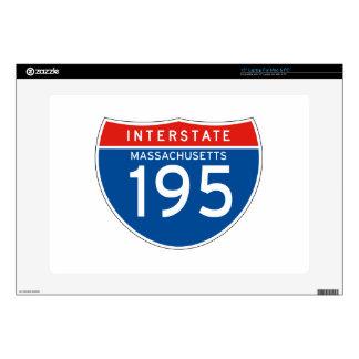 """Interstate Sign 195 - Massachusetts 15"""" Laptop Skin"""