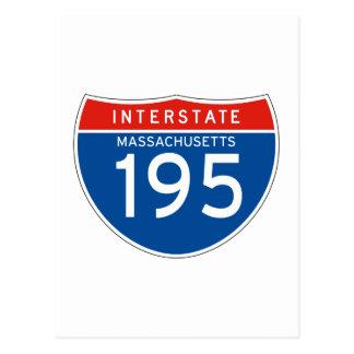 Interstate Sign 195 - Massachusetts Postcard