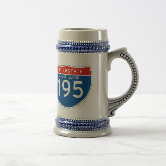 Interstate Sign 195 - Rhode Island Beer Stein