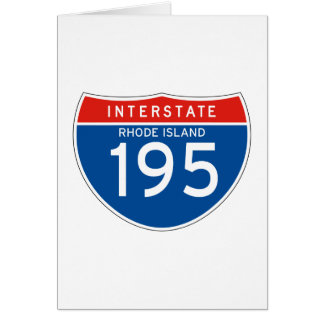 Interstate Sign 195 - Rhode Island Greeting Cards