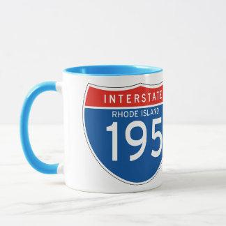Interstate Sign 195 - Rhode Island Mug