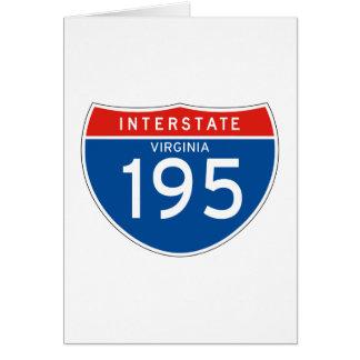 Interstate Sign 195 - Virginia Greeting Card