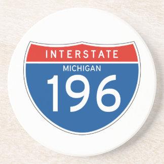 Interstate Sign 196 - Michigan Beverage Coasters